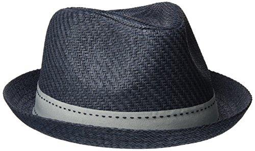 ESPRIT Herren Panamahut 047EA2P001 Blau (Grey Blue 420) Large