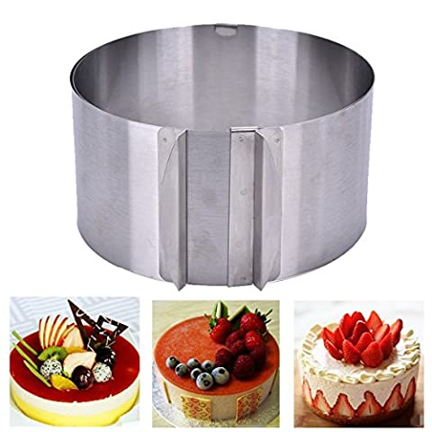 Twinkling Stars Adjustable Stainless Steel Cake Baking Mold Mousse Mould Cake Ring 6