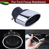 New 1pcs en acier inoxydable d'échappement Silencieux D'Échappement Tail Pipe Tip tuyaux de tubes d'extension d'extrémité sur mesure pour Ford Focus Hatchback 200920102011201220132014201520162017