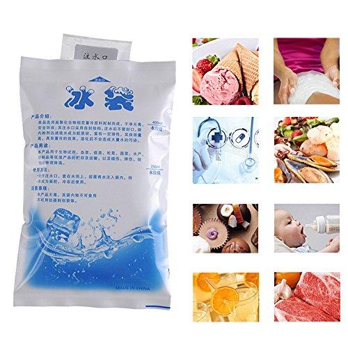 10 PCS Kalt Preservation Eisbeutel Isolierte Tasche Lebensmittel Meeresfrüchte Kälte Wiederverwendbare Trockene Eis Gel Eisbeutel - Wiederverwendbare Kalt-eis