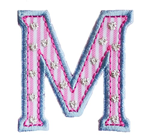 m-maiuscolo-5cm-rosa-azul-bautismo-arte-arreglar-apliques-algodon-para-reparar-mochila-techo-panuelo