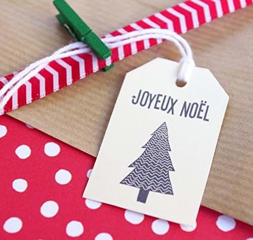 14 étiquettes cadeaux joyeux noël étiquette sapin de noel emballage cadeau déco Noël