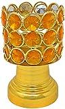 portavelas dorado cristal candelero para casa boda cumpleaños fiesta decoración
