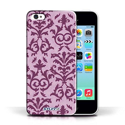 iCHOOSE Print Motif Coque de protection Case / Plastique manchon de telephone Coque pour Apple iPhone 5C / Collection Motif de défilement / Vert Rose