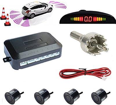 TKOOFN® Universal KFZ Radar Aparcamiento Sensor Alarma Acustica Indicador LUZ Kit LED Marcha Atras
