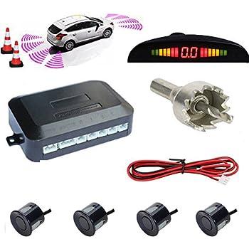 4 Sensors White LED Display OSAN CICMOD Car Reverse System Parking Sensor Backup Radar Sound Alert