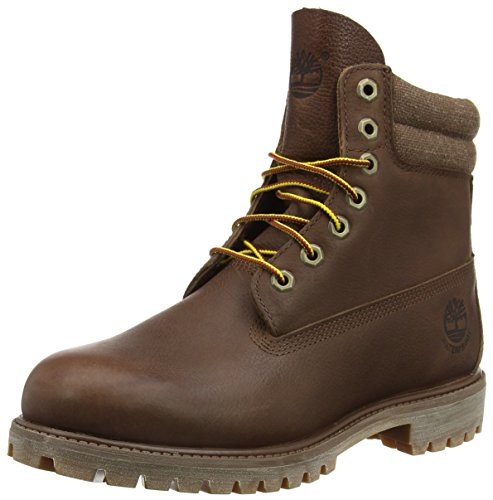 Timberland 6 In Classic Boot_6 in Double Collar Boot, Herren Kurzschaft Stiefel, Braun (Brown FG with Canvas), 43.5 EU