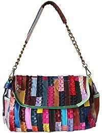 PICARD Janis Umhängetasche Damenhandtasche | Leder | Maße ca: 37cm x 40cm x 10cm | Patchwork-Stil |