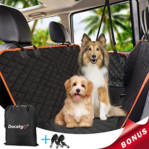 Docatgo wasserdichte Hunde Autoschondecke mit Seitenschutz & Reißverschlüsse,6 Lagen 100{870b4f72584a66b9684df6cd44b512fee4b10b54623d2ccbea3907e28be1b4e0} wasserdicht,Universalgröße 147x137 cm, Kratzfest, für Auto/Van/SUV