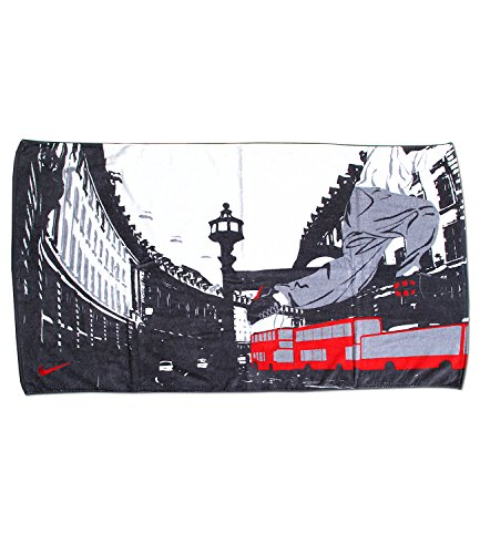 Nike Badetuch Strandtuch London City Metro Serie (white/anthracite/stealth/sport red)