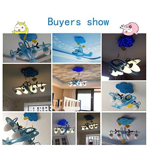 Guo Kinderzimmer-Lichter Jungen-Schlafzimmer-Flugzeug-Lichter Kronleuchter-Pers5onlichkeit-kreative Legierungs-Lampen E14 Lampen-Hafen - 4