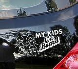 Meine Kinder On Board???Baby on Board, Familie Kinder Heart Kids Auto Aufkleber Drift Bumper Window Auto Funny Vinyl Van Laptop Love Herz Decor Home Live Kids Funny Art Wand Aufkleber Aufkleber