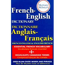Merriam Webster's French-English Dictionary by Merriam-Webster (2008-09-28)