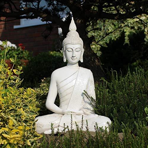 Thai Buddha Weiß Statue groß 40 cm - 7