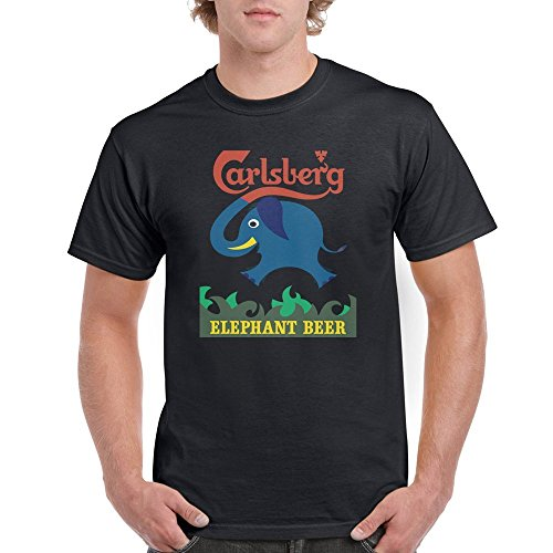 4656b2b584da6 Runnering One Side CARLSBERG elephant beer drink New Men s T-shirt Adult  Large Black