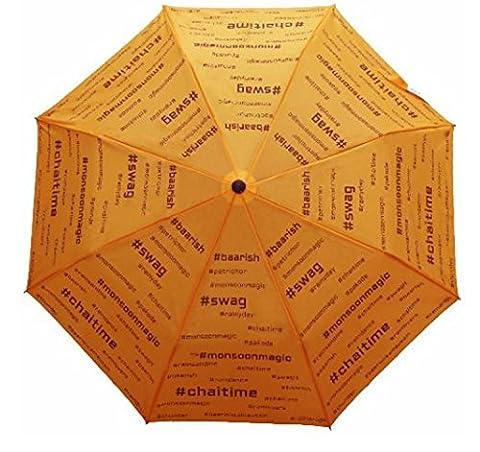Ananth Crafts ACCC_YELLOW, Parapluie pliants Mixte adulte jaune jaune