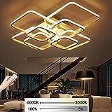 Lampada da soffitto a LED dimmerabile Soggiorno con telecomando Lampada da soffitto moderna minimalista Design creativo in metallo acrilico Plafoniera Illuminazione Camera da letto Sala ufficio Lampad