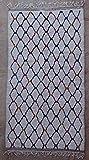 275X150 cm 9'0' x 4'11' AZ36228 AZILAL Rug Ourika,Beni Ourain Vintage Berber Rug Morocco,Wool Carpet,boucherouit