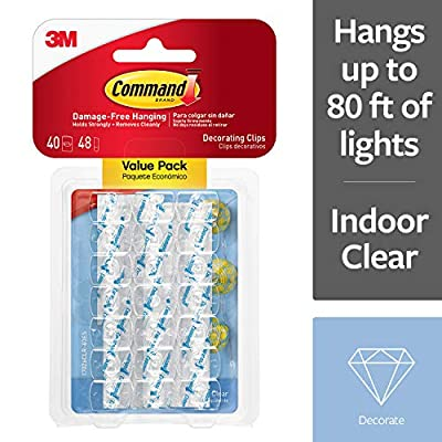 Command 17026CLR-VP Decoration Clips for Christmas and Fairy Light : everything £5 (or less!)