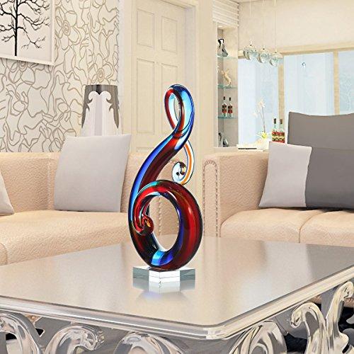 Deko Ideen: Tooarts Moderne Skulptur Designer Glasskulptur