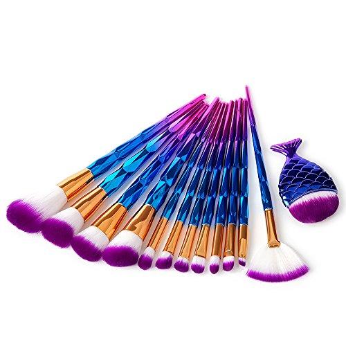 Covermason 13 pcs Einhorn Makeup Pinsel Set, Pulver Foundation Rouge Lidschatten Blending Pinsel...