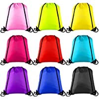 6c6a5d446f34 Keriber 9 Colors Drawstring Backpack Bag Tote Sack Bag Cinch Gym Bags for  Gym Sport or