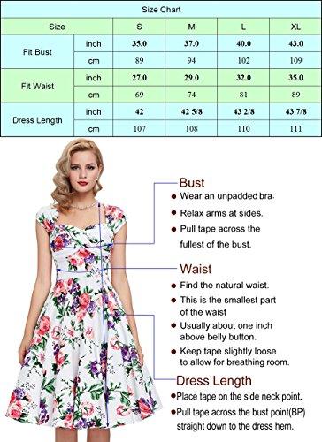 50er jahre kleid vintage rockabilly kleid partykleider hepburn stil polka dots kleid damen swing kleid XL CL0463-2 - 3