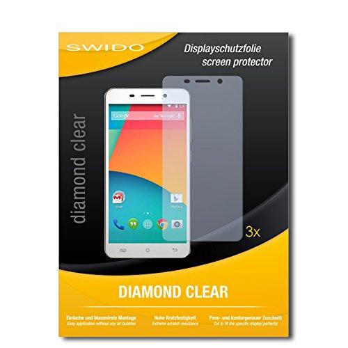 SWIDO 3 x Schutzfolie Cubot X9 Bildschirmschutz Folie DiamondClear unsichtbar