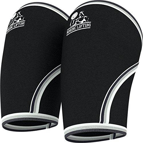 Ellbogen-Bandage (1Paar) , 5mm-Neopren-Bandage für Unterstützung und Kompression, für Gewichtheben, Kniebeugen, Powerlifting und Crossfit–5mm Neopren Bandage für die beste Leistung–sowohl Frauen als auch für Männer– von Nordic Lifting ™–1Jahr Garantie, damen Herren, xl (Adidas Wrap Golf)