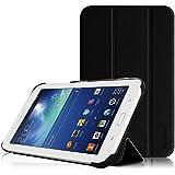 Fintie Samsung Galaxy Tab 3 7.0 Lite T110 T111 T113 T116 Hülle Etui Case - ultradünn Schutzhülle Tasche SmartShell Cover mit Ständer für Galaxy Tab 3 7.0 Lite (7 Zoll) Tablet, Schwarz