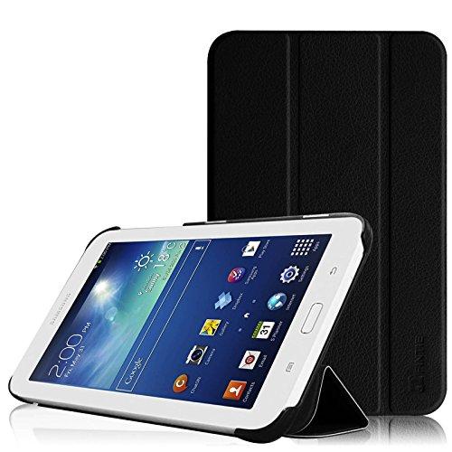 Fintie Samsung Galaxy Tab 3 7.0 Lite T110 T111 T113 T116 Hülle Etui Case - ultradünn Schutzhülle Tasche SlimShell Cover mit Ständer für Galaxy Tab 3 7.0 Lite (7 Zoll) Tablet, Schwarz (Galaxy Tab 3 Schwarz)
