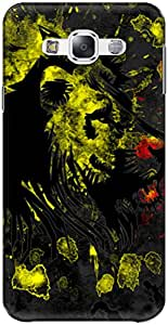 The Racoon Lean printed designer hard back mobile phone case cover for Samsung Galaxy E7. (Rasta Lion)