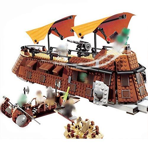 NANFENG Star Wars Jabba Vela Barge regresa a la Serie de Cine Jedi Star Building Wars Bloques Dar niños cumpleaños Juguetes Regalos niños y niñas Juguetes