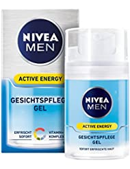 Nivea Men Active Energy Gesichtspflege Gel im 1er Pack (1 x 50 ml), vitalisierende Gesichtscreme für Männer, Feuchtigkeitscreme gegen Anzeichen von Müdigkeit
