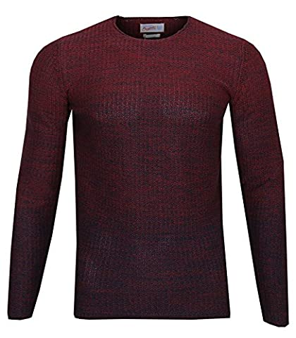 JACK & JONES Herren Strickpullover leichter Pullover Knit Fit Melange (XL, Rot (Syrah Fit:KNIT jorSWING))