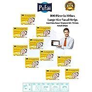 Pufai Breathe Fresh Nasal Strips.100 Piece in 10 Box Large Size Nasal Strips (66 * 19 mm).