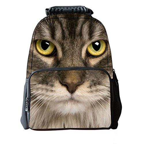 Tinksky 3D Zaino Premium qualità Unisex scuola zaino viaggio stampa animale 3D borsa bambini borsa zaino