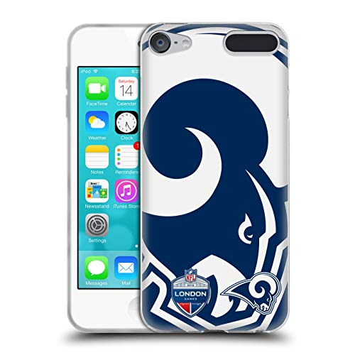 Ipod Touch Ram (Head Case Designs Offizielle NFL Oversized Rams 2019 London Games Soft Gel Huelle kompatibel mit Apple iPod Touch 6G 6th Gen)