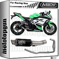 ARROW Silenciador Completo NOCAT Race GP2 Inoxidable Negro Kawasaki Ninja 250 2015 15 71018GPI + 71476MI