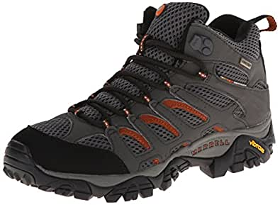 Merrell Moab Mid Gore-Tex , Men's Lace-Up Trekking and Hiking Boots - Beluga, 6.5 UK