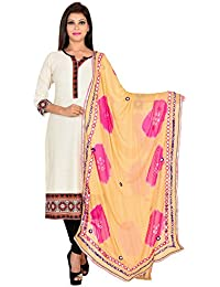 Ooltah Chashma Designer Party Wear Chiffon Dupatta With Lace Work For Women/ Girls