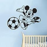 Disney Mickey Maus Fußball Kinder Kid 's Schlafzimmer Kinderzimmer Vinyl Wall Art Sticker Aufkleber Wandbild Transfer Schablone, Vinyl, Pink, 70 x 48