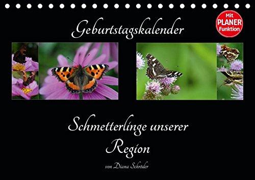Geburtstagskalender Schmetterlinge unserer Region (Tischkalender 2019 DIN A5 quer): Schmetterlinge nach Arten benannt (Geburtstagskalender, 14 Seiten ) (CALVENDO Wissen)