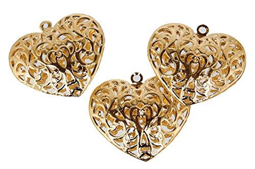 Steingaesser Metall Herz Kugel, Gold, 5 x 5 cm (Kugeln Herz)