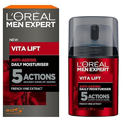 L\'Oréal Men Vita Lift 5 Anti Age Total, Feuchtigkeitspflege Männer, Anti Aging Creme, 1er Pack (1 x 50 ml)