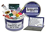 Mum & Dad To Be Survival Kit In A Can. Humorous Novelty Fun Gift - New Parents/Mother/Father. Baby Shower/Maternity Present & Card All In One. Customise Your Can Colour. (Purple/Lilac)