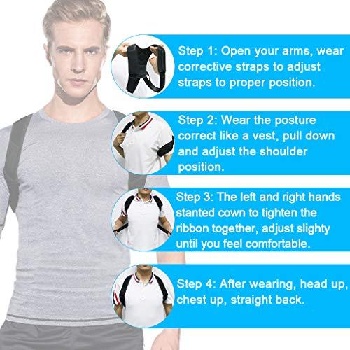 Zoom IMG-3 correttore postura schiena regolabile tencoz