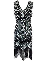 Falda en el mar Vestido de Fiesta de Gatsby de la Aleta de la Vendimia Embellecido