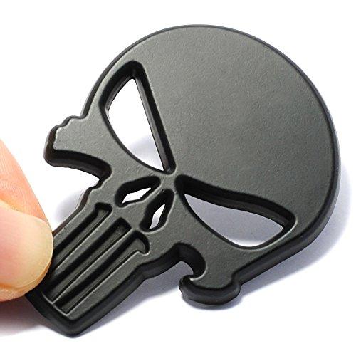 Pegatina 3D calavera negra sticker para cascos coches motos...