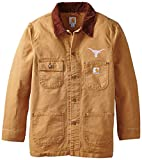 Best Carhartt Coats And Jackets - NCAA Texas Longhorns Men's Weathered Chore Coat, Large Review
